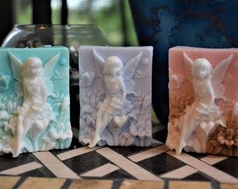 Fairy soap,goat milk soap, fairy theme party favor, baby shower party favor, stocking stuffer, fairy home decor, fairy birthday party favor