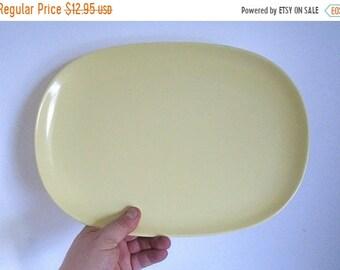 "Sale - Mid Century TEXAS-WARE Light Yellow Melamine Platter - 13-7/8"" x 9-7/8"" -  # 141"