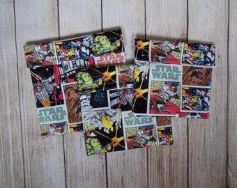 Star Wars set of 3 reusable snack bags