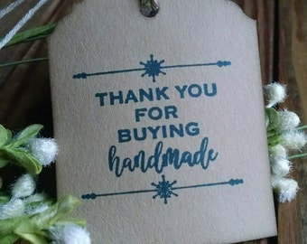 """Buy Handmade Hang Tags, small business, appreciation tags, sized 2 1/2"""" x 2"""", set of 12"""