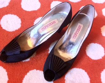 Bandolino Satin Peep-Toe Pumps - Size 6.5