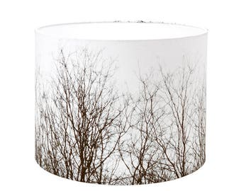 Lamp Shade - Branches. Photography lampshade, nature, trees, autumn.