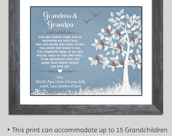 Christmas Gift For Grandparents - Grandparents Gift - Grandparents Poem - Gift From Grandchildren - Gift For Grandma - Gift For Grandpa