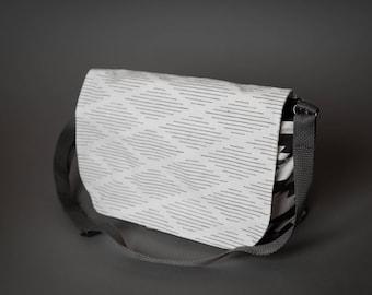 Black and White purse/black and white messenger bag/child's messenger bag/crossbody bag/travel bag