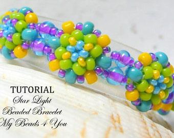 Beading Tutorials ,Patterns,Beading Instructions,Seed Bead Bracelet Pattern, Earring Tutorial, PDF Pattern. Beaded Bead Tutorial,MyBeads4You