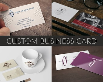 Custom Business Card, Business Card Design, Custom Cards, OOAK Business Card ,Business Branding, Calling Card, Unique Business Card