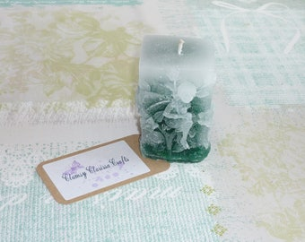 Emerald Green Faded Square Fairy Candle