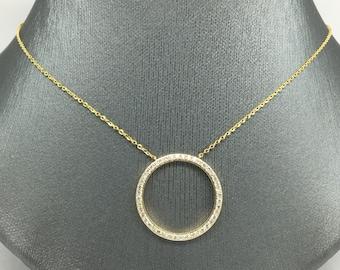 Circle Of Life Pendant 14k circle of life etsy 14k yellow gold natural genuine diamond large size circle of life necklace audiocablefo