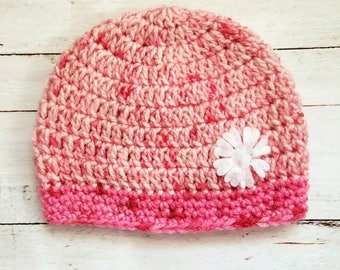 Baby Hats for Girls|Beanie Hat|Crochet Hat|Baby Beanie Girl|Valentine Beanie Hat|Valentine Hats Baby|Flower Hat|Heart Hat Baby|Baby Girl Hat