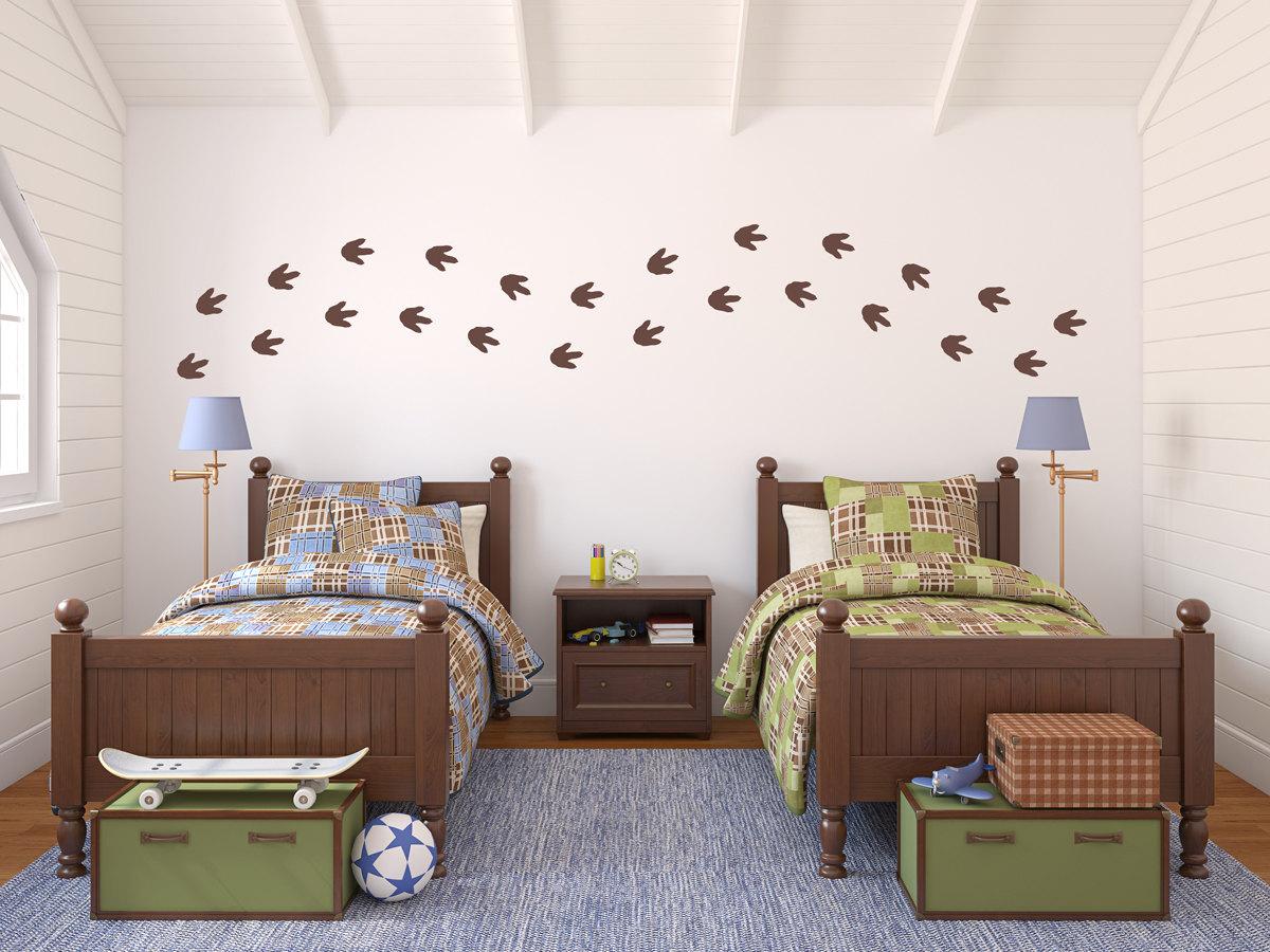 Dinosaur Footprints Wall Decal Set Boy Bedroom Decor