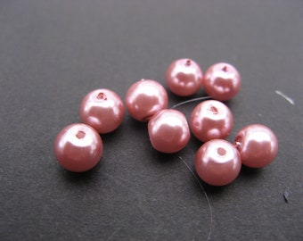 6 mm old pink pearls * 1 set of 11 beads