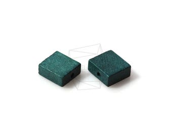 BSC-265-G/5pcs/Square Wooden Beads /10mm x 10mm/wooden Square beads