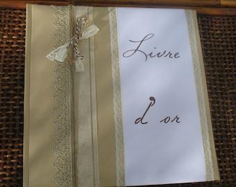 Livre d'or gamme  mariage dentelle 