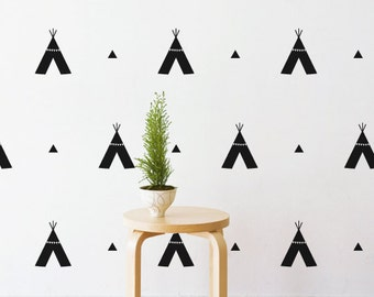 Tribal Tee Pees   Removable Wall Decal & Sticker for Home, Office, Nursery