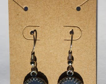 Purple-spotted Swallowtail Butterfly Earrings 021-022