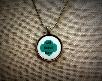 Girl Scout Inspired Necklace. Perfect for leader, troop MOM, Daisy, Brownie, Junior, Cadet, Senior, or Ambassador ranks.