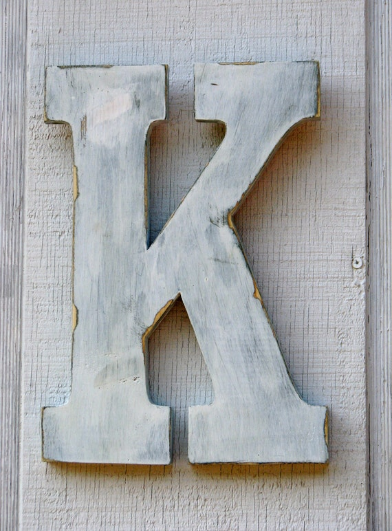 distressed wood letters rustic wooden letters k distressed painted white12 21380 | il 570xN.340921969