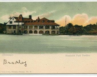Humboldt Park Pavilion Chicago Illinois 1907c postcard
