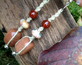 Goldstone Goddess Earrings