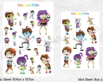 ZOMBIE Planner Stickers (2 options)