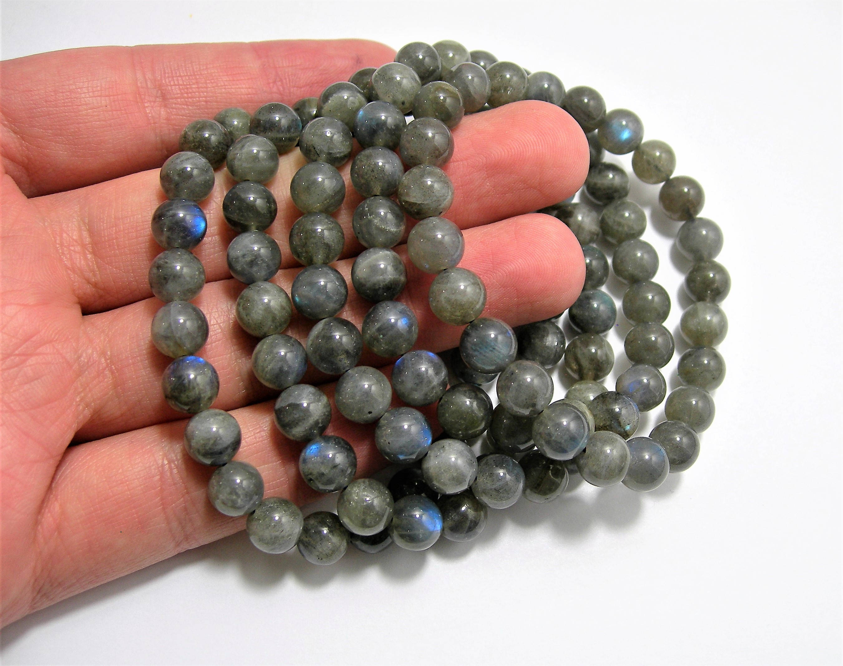 wholesale gemstone natural faceted coin gray labradorite stone loose pin beads grey