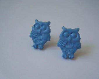 ♥ ♥ Blue OWL earrings