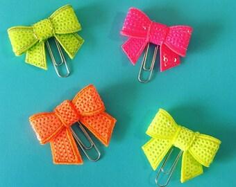 Summer Brights Mini Bows Planner Clip E47
