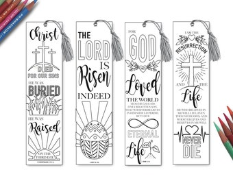 Religious Bookmarks Printable Easter Color Your Own Bible Journaling Luke 10 13