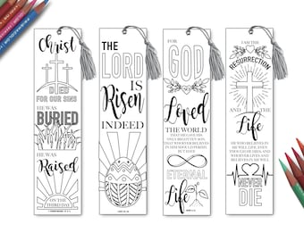 Bible Verse Bookmarks, Color Your Own, Bookmark Coloring, Bible ...