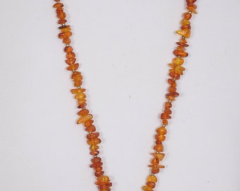 """30"""" Beaded Necklace, glass beads with copper pendant, plus stones"""