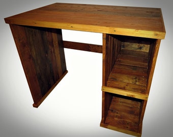 Rustic Style Desk 3, Reclaimed Wood, Wood Office Furniture,Solid Wooden Storage,Bespoke, Handmade from pallet wood. Shabby chic