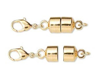 One magnetic clasp converter, gold-plated brass, 28x7mm.