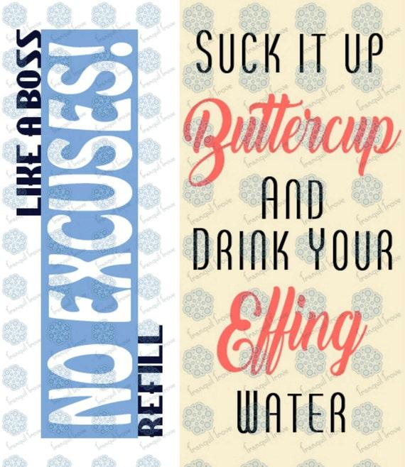 1e313772e6 ... Drink Up Buttercup Svg: SVG & DXF Design Set Of 2 Suck It Up Buttercup