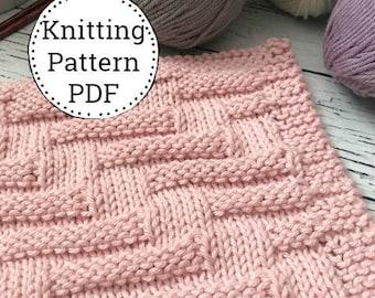 Knitting Pattern   Dishcloth Pattern   Knitted Dishcloth   Instant Download Dishcloth Pattern   Anemone