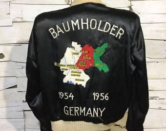 Vintage US Army Souvenir Jacket 1954-1956 Baumholder Germany (ps-m-5)
