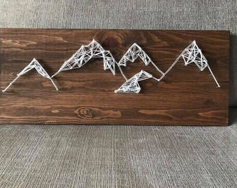 Rocky Mountains String Art