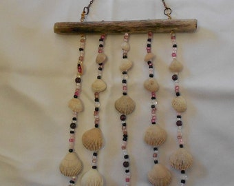 glass bead and shell wind chimes