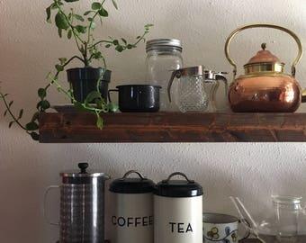 Reclaimed Wood Shelf, Floating Shelf, Wood Shelf, Wooden Shelf, Modern Farmhouse, Shelf, Home Organization, Shelving, Wooden Hanging Shelves