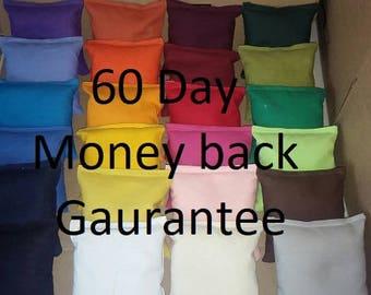 Highest Quality Handmade Cornhole bags Set of 8 ACA regulation, Guaranteed to be the best