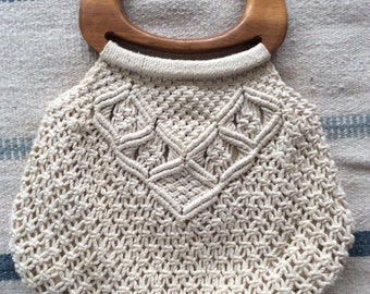 1970s Macramé All Day Bag