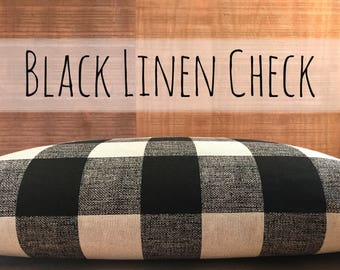 """Large 3"""" Tall Buffalo Check Dog Bed Cover in 7 Colors, Designer Duvet Covers for Dog Beds, Plaid Cover, Modern Farmhouse Decor"""