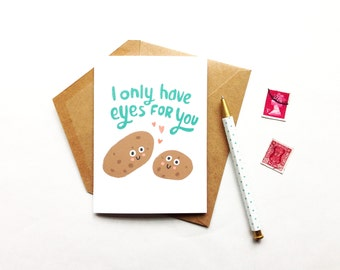 I Only Have Eyes For You - Card, Romance, Love, Humor