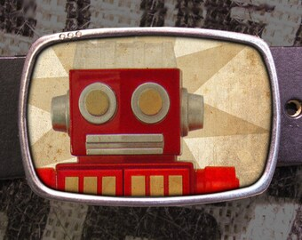 Robot Belt Buckle, Vintage Inspired 579, Gift for Him, Gift for Her, Husband  Gift, Wife  Gift Groomsmen Wedding