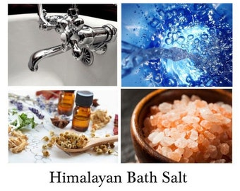 Himalayan Bath Salt - 100% Natural Handmade Himalayan Bath Salts