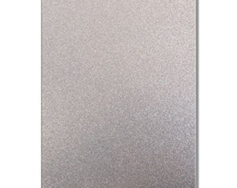 2 x A4 sheets of Premium Dovecraft Silver Glitter Card 220 gsm