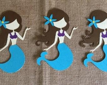 Mermaid Die Cut Set of 3, Mermaid Party, Under the Sea Party, Mermaid Decor