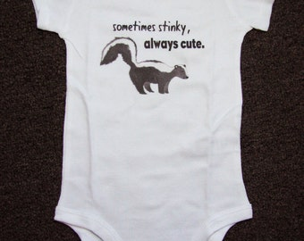 Cute Baby bodysuit, Unique baby clothes, Woodland baby shower, Woodland baby, skunk shirt, Lil Stinker, Stinky, Woodland, Forest