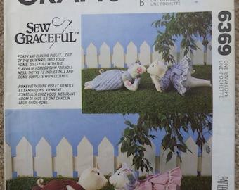 1993 Pokey & Pauline Piglet dolls McCall's crafts pattern