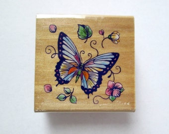 Butterfly Mounted Rubber Stamp Set, Butterfly Stamp, Rubber Stamp, Delta