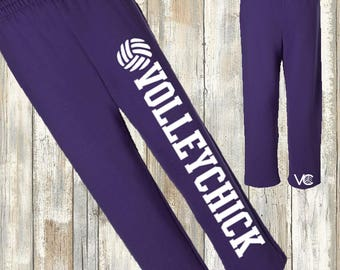 Volleyball Sweatpants - VolleyChick full leg logo
